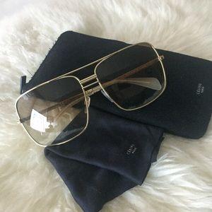 Celine square metal frame sunglasses