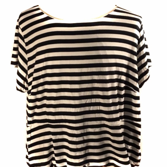 ffa24add2e7c4c Cato Tops | Plus Size Black White Striped Peplum Top 2628 | Poshmark