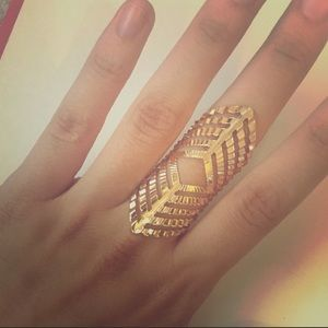 Jewelry - BEST SELLER! Gold Colored Statement Fashion Ring