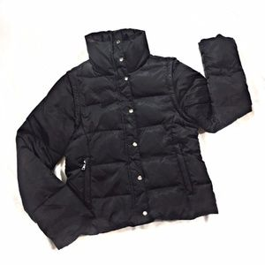 Express Black Puffy Jacket Removable Sleeves Smal
