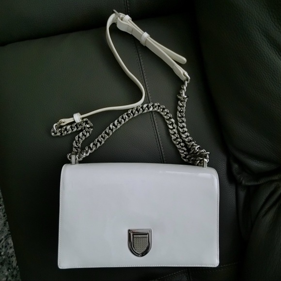 a58a0c10481d Christian Dior Handbags - dior dioroma patent leather white medium bag