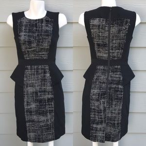 Milly Two Tone Peplum Career Dress
