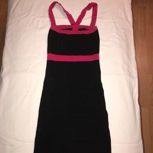 Bebe black and pink dress