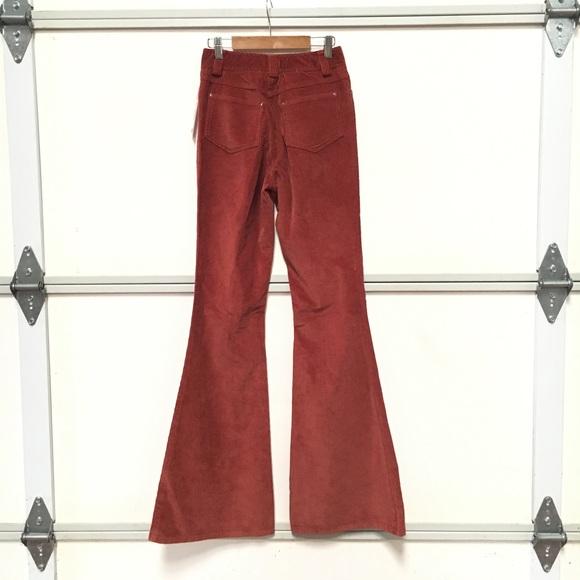 Alice + Olivia Pants - burnt orange flare bell bottom corduroy pants NEW