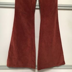 Alice + Olivia Pants - burnt orange flare bell bottom corduroy pants NEW