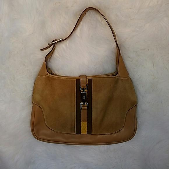 7037d74b6 Gucci Bags | Vintage Jackie O Genuine Suede Shoulder Bag | Poshmark