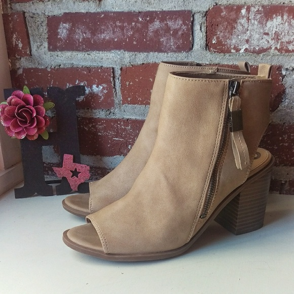 54a04f33801d Circus by Sam Edelman Shoes - Nude Kammi Sandal Booties Size 8