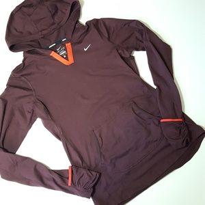 NIKE womens dri-fit running hooded long sleeve