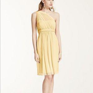 Davids Bridal F15607 Size 8 Canary Yellow