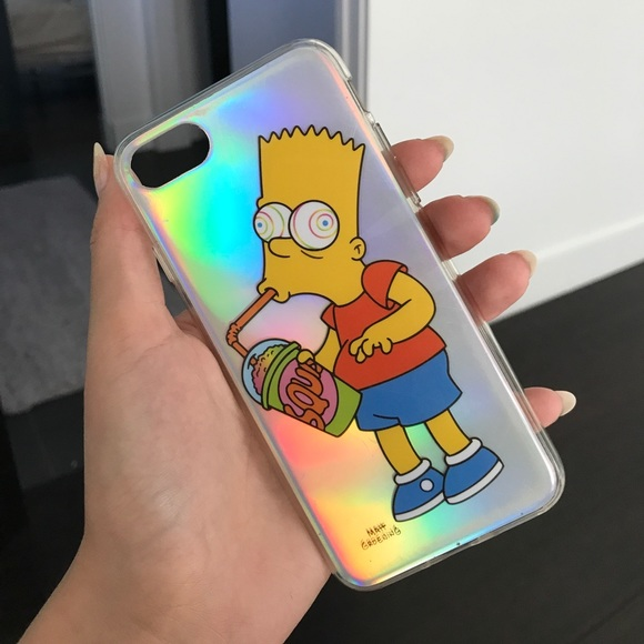 cheaper 58f00 9b306 Holographic iPhone 7 SIMPSONS case NWT