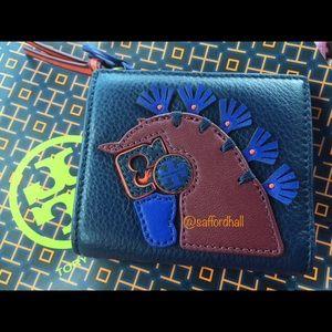🐎NWT Tory Burch Horse Mini Wallet Horseshoe Zip🐎