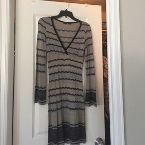 Pixie lightweight sweater dress with bell sleeves