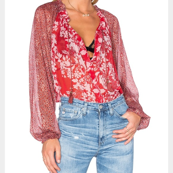 Free People Tops - Red hot Free People blouse