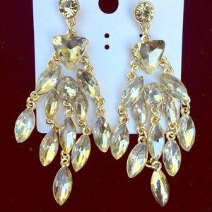 Jewelry - Glamorous Cascade Chandelier Earrings.