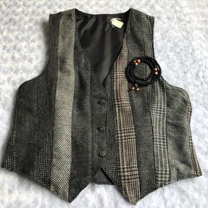 Other - •new• MENS GREY WOOL PATCHED VEST