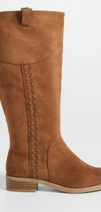 Shoes - Suede Boots Wide Calf