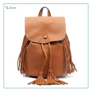 Handbags - NEW Pebble Textured Fringe Mini Backpack