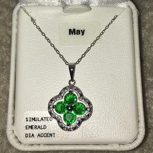 Jewelry - Emerald Necklace (May Birthstone)