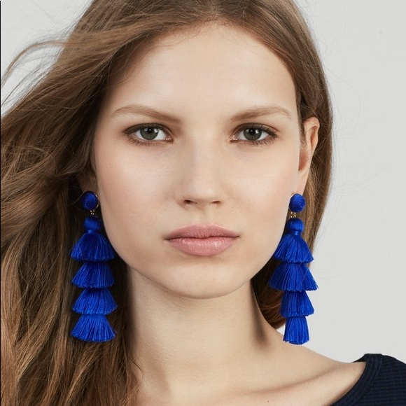 d91fa5fb0 BAUBLEBAR Jewelry | Gabriela Stud Tassel Earring In Blue | Poshmark