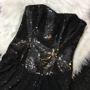 Betsey Johnson Strapless Sequin Cocktail Dress