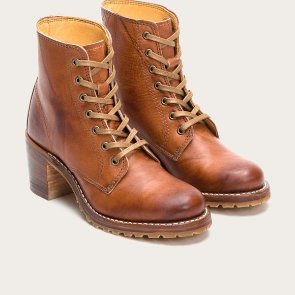2c77c8e73 Frye Shoes | Sabrina 6g Lace Up Boots Saddle 7 12 | Poshmark