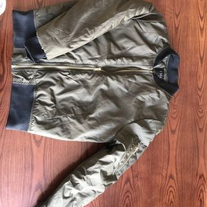 Jackets & Blazers - Never Been Worn Bomber Jacket with Gold Zippers