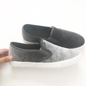 Shoes - Grey slip ons