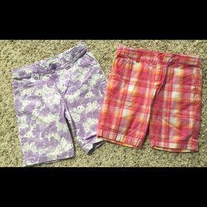 Other - Girls Bermuda shorts both size M (7-8)