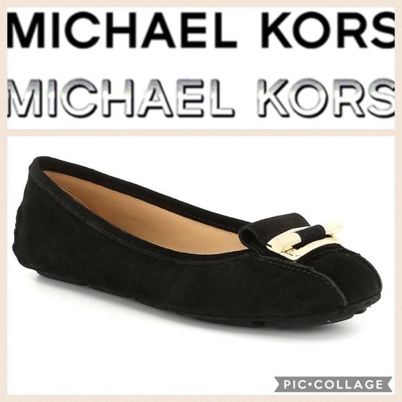 Michael Kors Gloria Mocflat Black Suede