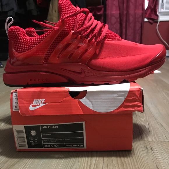reputable site b5bc7 a3013 Nike Presto China Red. M 59a7240841b4e0e1e00005a4