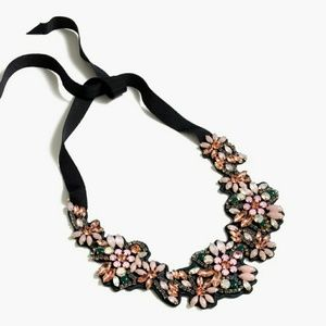 J. Crew Fabric-backed crystal cluster necklace