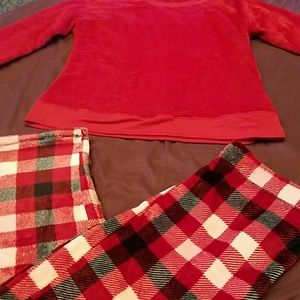 2pc plush sleepwear sz L (12-14)