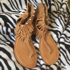 BOHO Ankle Fringe Sandals