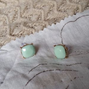 Jewelry - Large Opaque Light Green Jeweled Studs