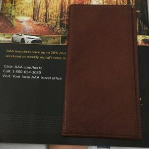 Mans suitcoat wallet