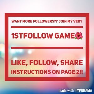 Other - Follow Game!! Please like,follow.share!thanks