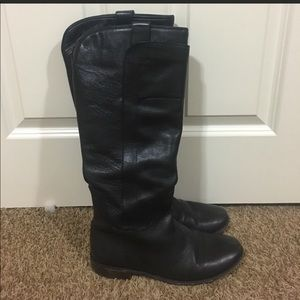 Frye Melissa tall black riding boots. Size 9.