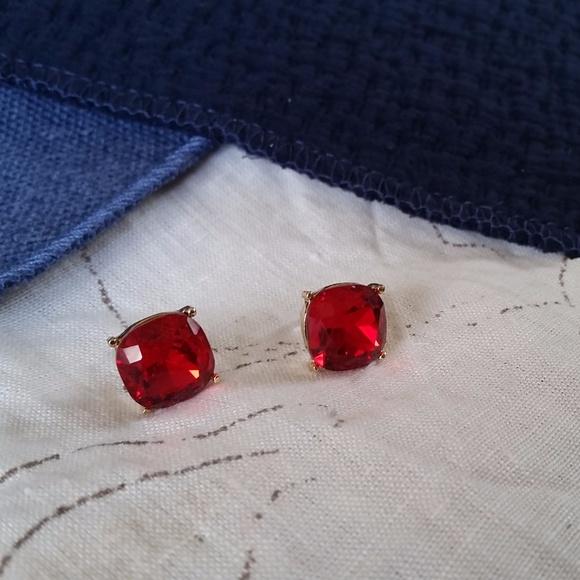 Jewelry - Large Red Jeweled Studs