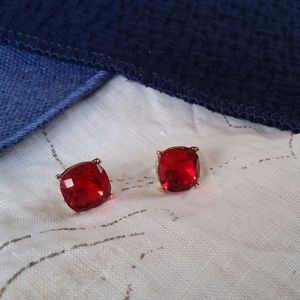 Jewelry - Large Red Jeweled Studs