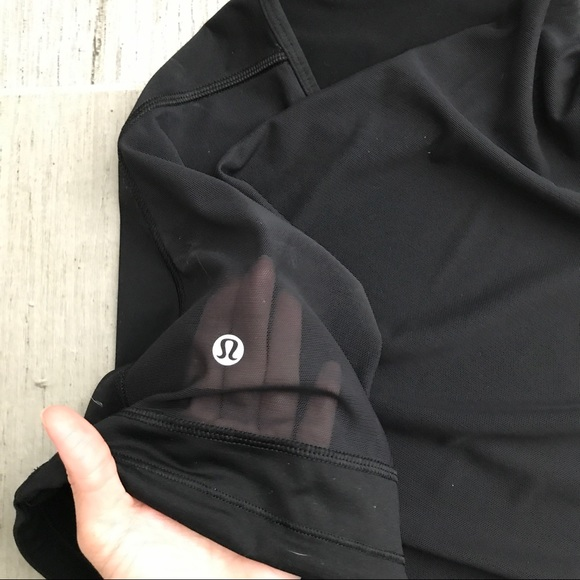 lululemon athletica Tops - Lululemon black tank with mesh back