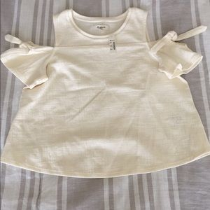 NWT Madewell cold shoulder top