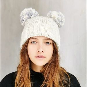 78ad5345 Urban Outfitters Accessories - Urban Outfitters Animal Ears Bear Panda Hat  Beanie