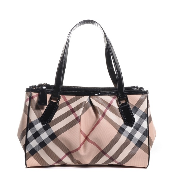 0d5b4a8e3207 Burberry Handbags - Burberry Super Nova Check Medium Melbury Tote