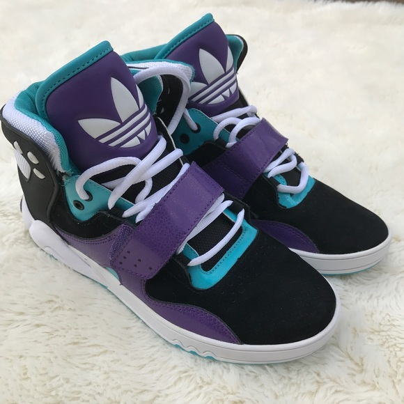 Adidas Roundhouse Purple & Blue High Top Sneakers