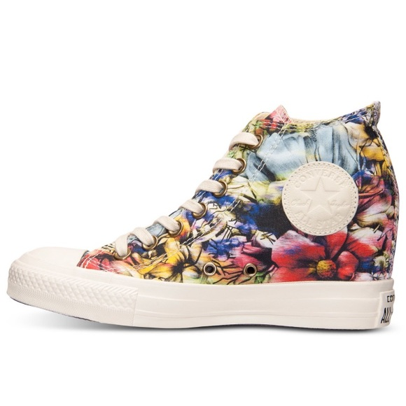 Details about Converse All Star Floral Trainers Brand New