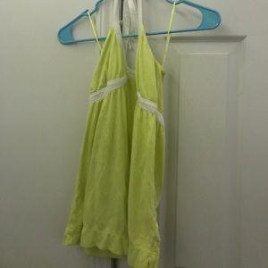 A neon yellow/green Aeropostale halter top.