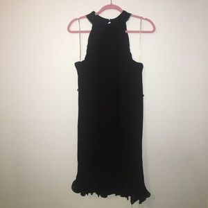 Forever 21 contemporary black pleated dress
