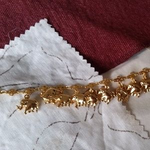 Jewelry - Gold-Tone Elephant Anklet