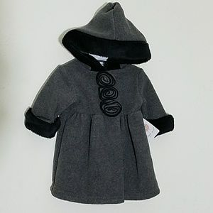 🆕️ Hooded Fleece Coat with Faux Fur Trim