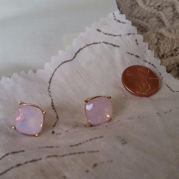 Jewelry - Large Light Pink Jeweled Studs